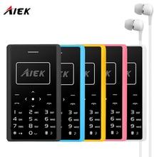 Aiek x7 ultra mince carte mobile téléphone 4.8mm téléphone aeku x7 soyes x6 faible rayonnement mini pocket étudiants personnalité enfants ph