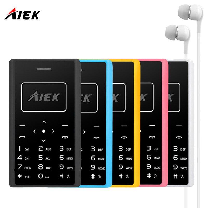 Цена за Aiek x7 ультра тонкий карты мобильного телефона 4.8 мм телефон aeku x7 soyes x6 низкая радиация мини карманные студенты личности детей рн