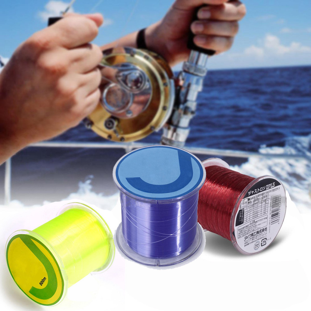 Hot Sale Durable 500m 0.26 mm Practical Nylon Fishing Fish String Wire Thread pesca Tackle Red