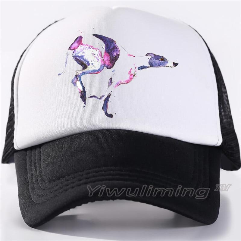 NewSummer Trucker Caps Greyhound Cool Summer Black Adult Cool Baseball Mesh Net Trucker Caps Hat For Men Adjustable