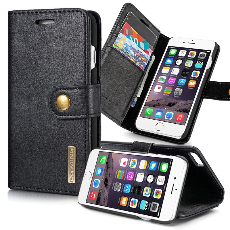 bilder für 2 in 1 Magnetische Für iPhone 6 Fall Leder & Harte PC Flip abdeckung iPhone 6 6 s Plus Fall Mit Ständer Brieftasche Coque Für iPhone6 Plus