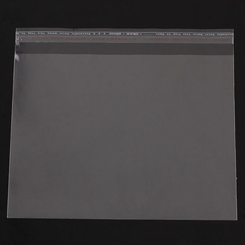 8SEASONS Plastic Bags Self Adhesive Seal Transparent(Usable Space 16cm X 13cm) 16cm X15cm(6 2/8