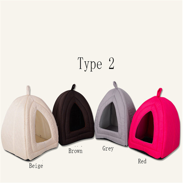 Colorful Pet House Thick and Solid Small Dog Kennel Tent Tai Diji Doll Dog House Soft and Comfortable Pet Dog Cat Bed