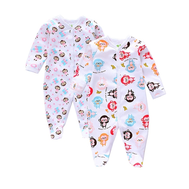 30aaacc7021a 2 Pieces lot Baby Bodysuit Baby girl Jumpsuits newborn Pajamas ...