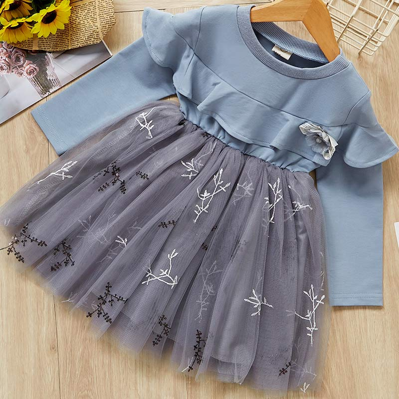 HTB1fJPaXEY1gK0jSZFCq6AwqXXaP Bear Leader Girls Dress 2019 Winter Geometric Pattern Dress Long Sleeve Girls Clothes Top Coat+ Tutu Dress Sweater Knitwear 2pcs