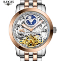 LIGE Brand Luxury Mechanical Watch Men Sport Hollow Clock dive Casual Fashion Business Full Steel Men watches Relogio Masculino