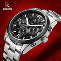 IK colouring Week Date 24 Hours Sub Dials Automatic Mechanical Watches Full Steel Luminous Brand Sports Men Watch relojes hombre