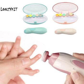 Loozykit Safe Electric Nail Clipper Cutter Baby Nail Trimmer Manicure Pedicure Clipper Cutter Scissors Kids Infant Nail Care недорого