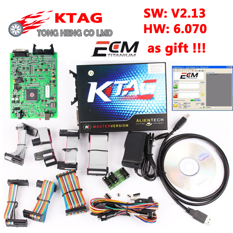 Best Chip KTAG V2.13 K-TAG ECU Programming Tool HW V6.070 with all software K TAG 2.13 K-TAG ECU Programming Tool