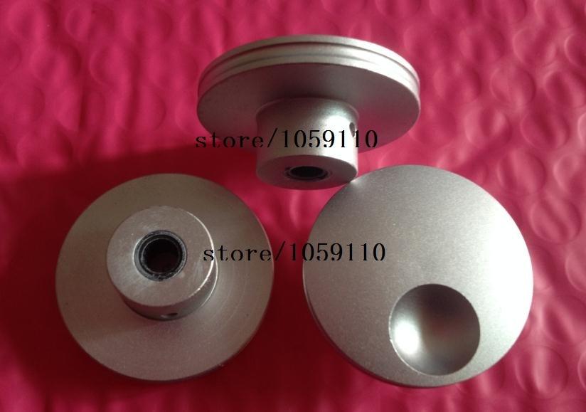 40mm*17mm*6mm new high-grade potentiometer knob concavity Solid aluminum knob blasting sound volume knob black slive 40*17*6mm a02 aluminum alloy volume potentiometer knob caps black 10 pcs