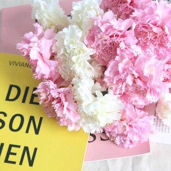 2227754ec196 6 piezas ramas Artificial flores Clavel para el día de la madre