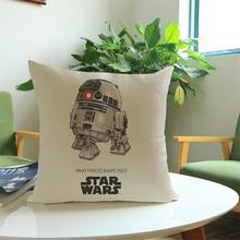 Cartoon cotton Linen  Star wars decorative cushion cover