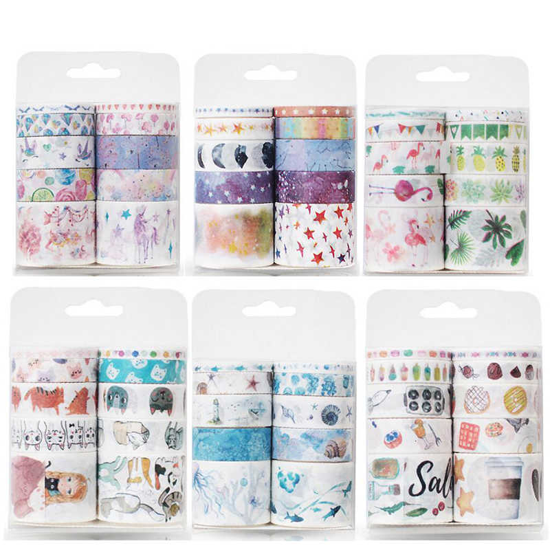 10 stks/set washi tape sterrenhemel masking tape Kawaii washitape Kerst stickers briefpapier scrapbooking school gereedschap