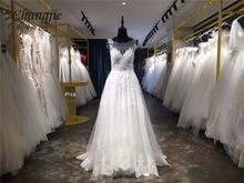 Cantik semata-mata gaun pengantin backless cantik 2017 Lace renda cloze lengan panjang gaun pengantin robe de mariage