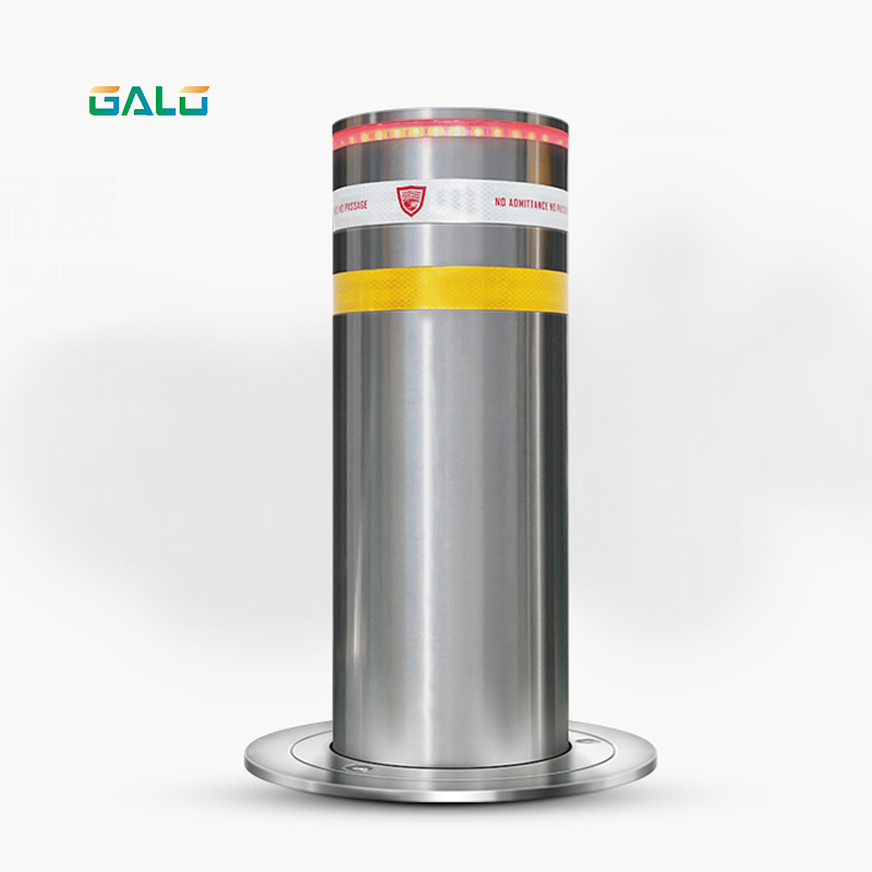 New Type Parking Rising Automatic Stainless Steel Reflective Hydraulic Bollard 1 Motor/PCS
