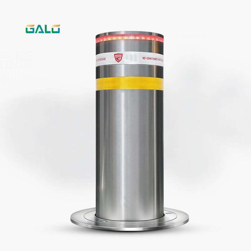 New Type Parking Rising Automatic Stainless Steel Reflective Hydraulic Bollard 1 Motor/PCS