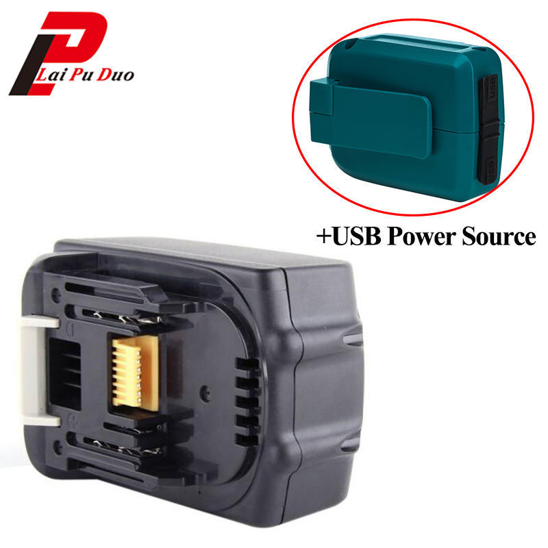 18V 4.0Ah Li-Ion Replacement power tool battery for MAKITA: 194205-3,BDF452HW,194309-1,BL1830,LXT400,BJR181 with USB Adapter power tool battery 18v 3000 mah lithium bl1830 for makita bl1830 18v 3 0a 194205 3 194309 1 electric power tool t0 05