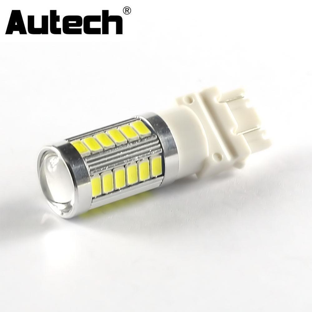 Autech 1 Piece 33 Smd 5630 Led Bulbs Car Led 3157 Fog Lights Bulb Drl Daytime Running Lights
