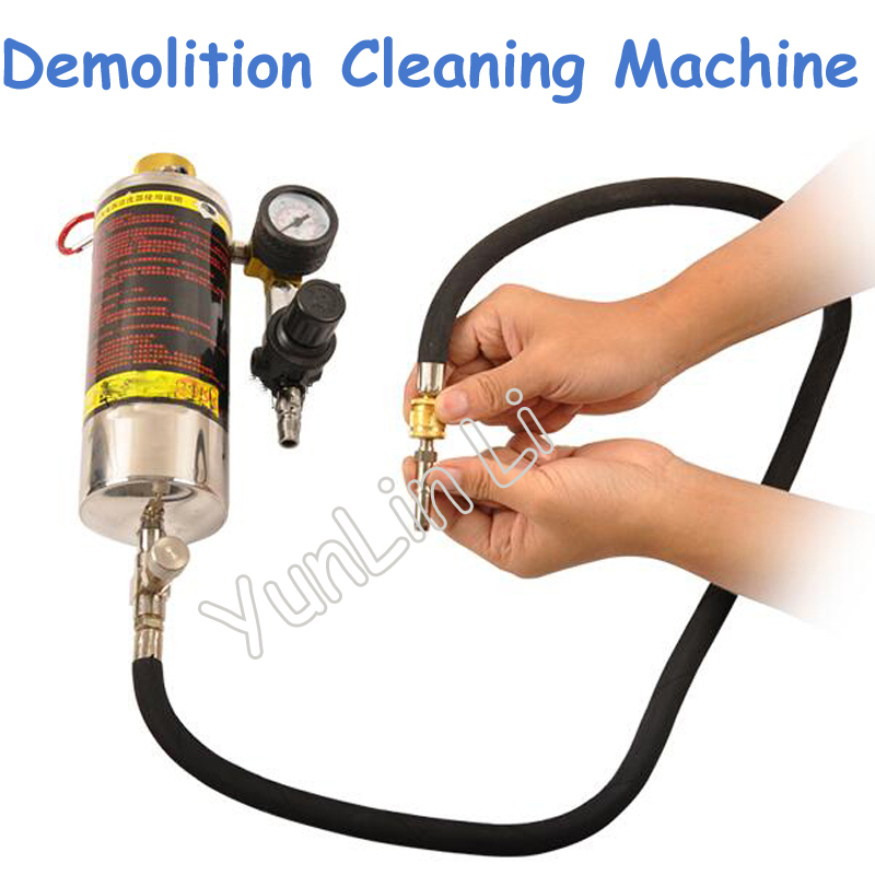 Automotive Fuel Free Demolition Cleaning Machine Hanging Bottle Tools Fuel Injector Throttle Inlet Oil Passage Equipment RTK014 new auto engine system gasoline fuel injector cleaner non dismantling bottle link for all diagnostic repair tools rtk014