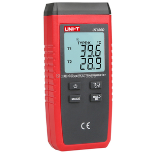Image 4 - UNI T UT320D Mini Contact Thermometer, Dual Channel K/J Thermokoppel Thermometer Data Te Houden Automatisch Uit