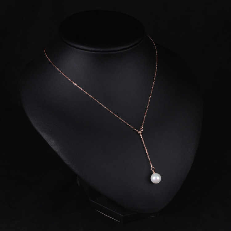 ファッション簡潔なジュエリーゴールドカラーシルバーカラーチェーン付きパールペンダントネックレス新しいスタイルアクセサリー真珠の宝石