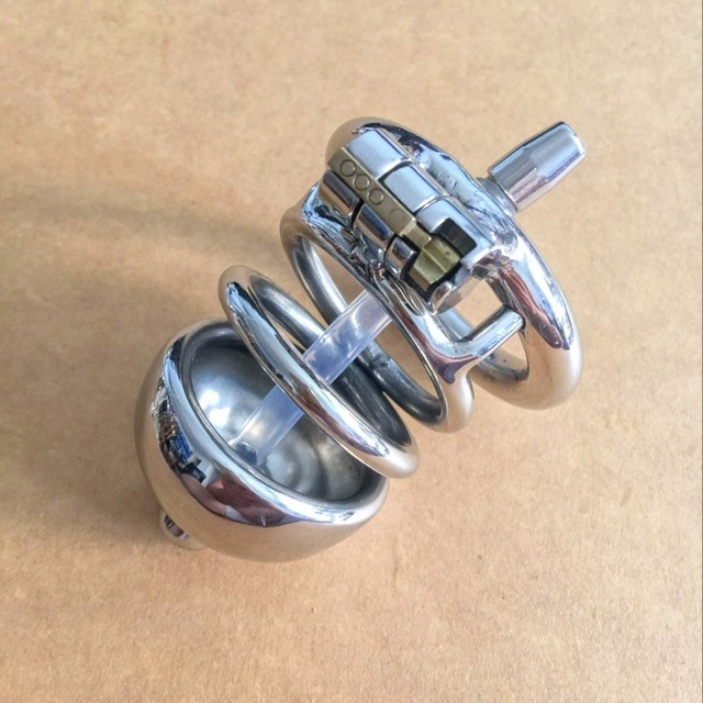 Male chastity device with catheter stainless steel metal catheter penis lock chastity urethral penis ring chastity belt men