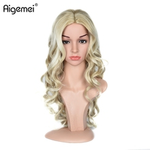 Aigemei Long Wavy Synthetic Wigs for Woman 613# No Lace Fiber Wig Heat Resistant 24inch