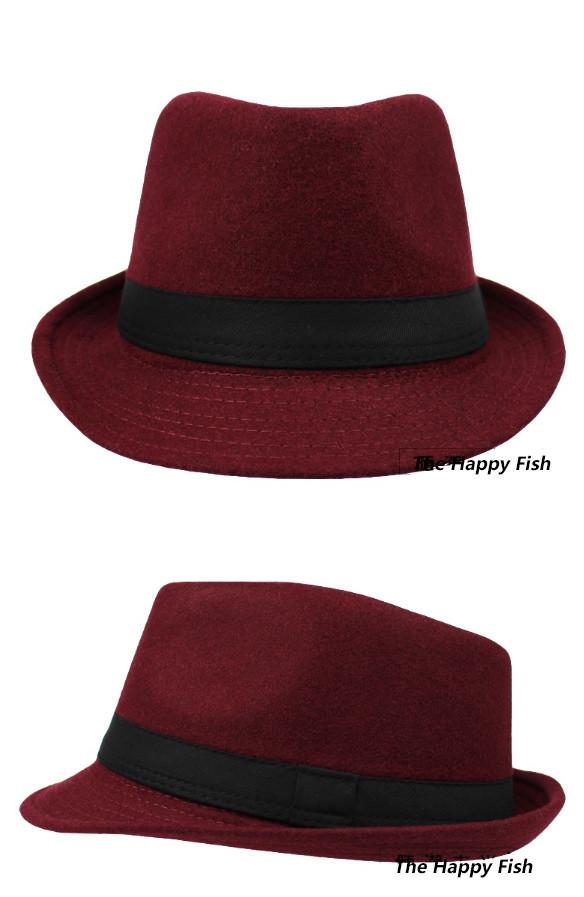 Original Unisex Structured Wool Fedora Hat Fedora hats for men fedora felt hat (14)