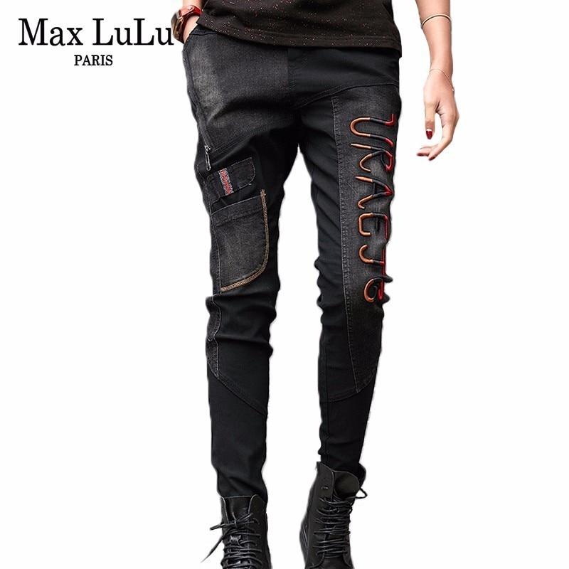 Max LuLu 2019 Luxury Korean Vintage Ladies Harem Pants Womens Black Ripped Jeans Push Up Woman Denim Trousers Plus Size Pantolon