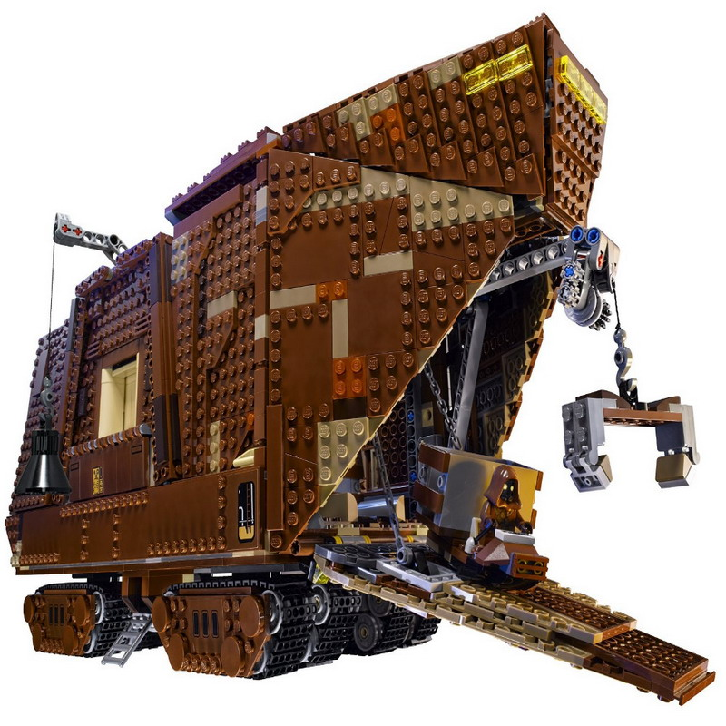 05038 LEPIN 3346Pcs Star Wars Sandcrawler Model Building Blocks Classic Enlighten DIY Figure Toys For Children Compatible Legoe 05050 lepin star wars motorized walking at at model building blocks classic enlighten figure toys for children compatible legoe