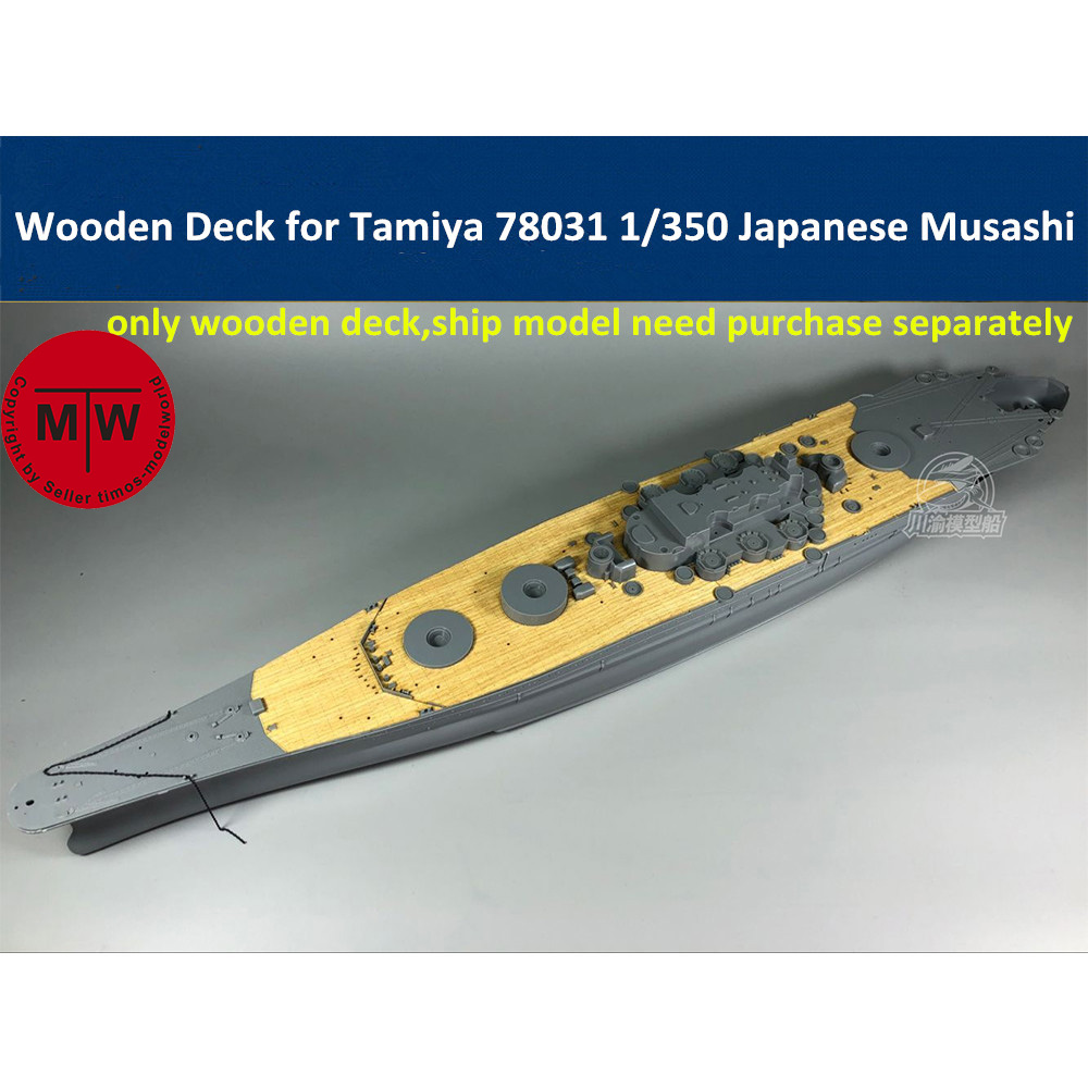 1/350 Scale Wooden Deck For Tamiya 78031 Japanese Battleship Musashi Model CY350041