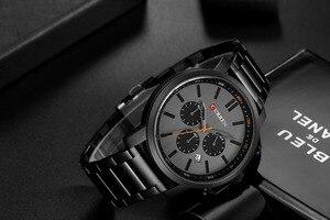 Image 4 - CURREN повседневные кварцевые аналоговые Мужские часы модные спортивные наручные часы с хронографом из нержавеющей стали мужские часы Relogio Masculino