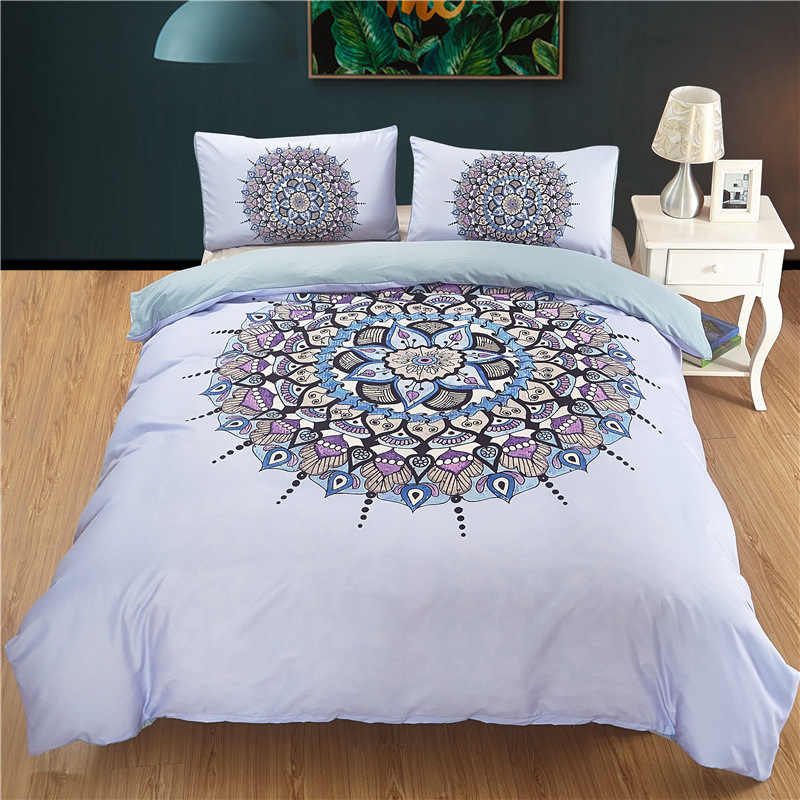 Fanaijia Bohemian beddings sets queen size India blue Mandala duvet Cover With Pillowcases Bed Set Beautiful Bedclothes