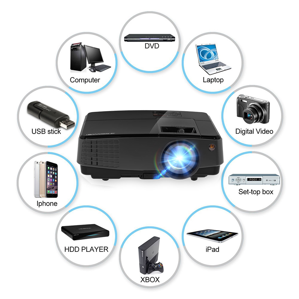 Caiwei Home Use Dvb T2 Projector Led Lcd Digital Tv: Aliexpress.com : Buy CAIWEI Digital Portable LCD Android