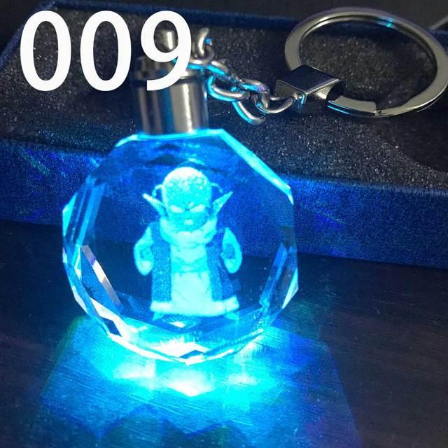 ZOEBER bright  Crystal Keychain Cartoon anime Crystal shiny Ball cosplay ball Led Keyrings car keychains key chain 4