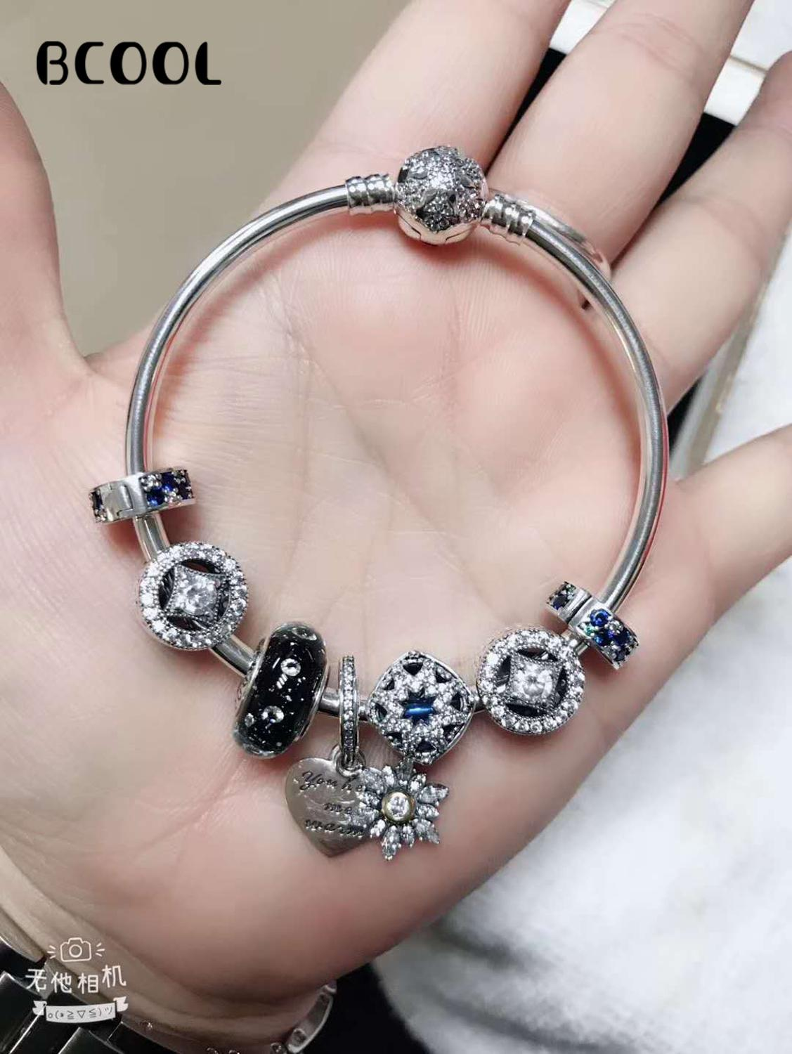 100%925 Sterling Silver Original 1:1, Fashionable Silver Bracelet, Suitable For Women Love Crystal Beads Bracelet Jewelry100%925 Sterling Silver Original 1:1, Fashionable Silver Bracelet, Suitable For Women Love Crystal Beads Bracelet Jewelry