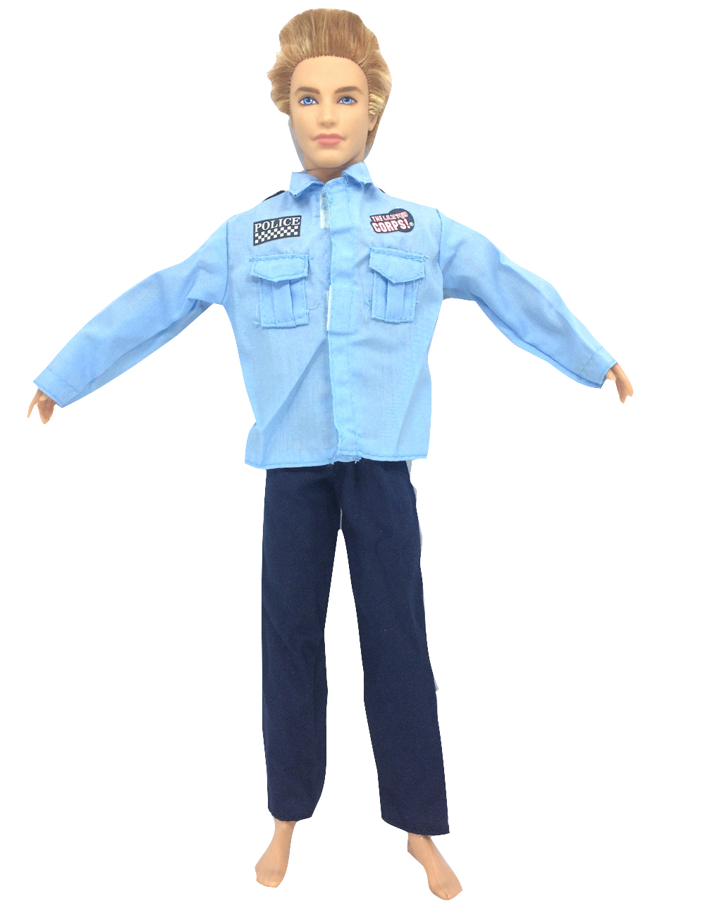 все цены на NK Original Doll Prince Clothes Combat Police Uniform Cop Outfit For Barbie Boy Male Ken Doll For Lanard  1/6 Soldier  Best Gift онлайн