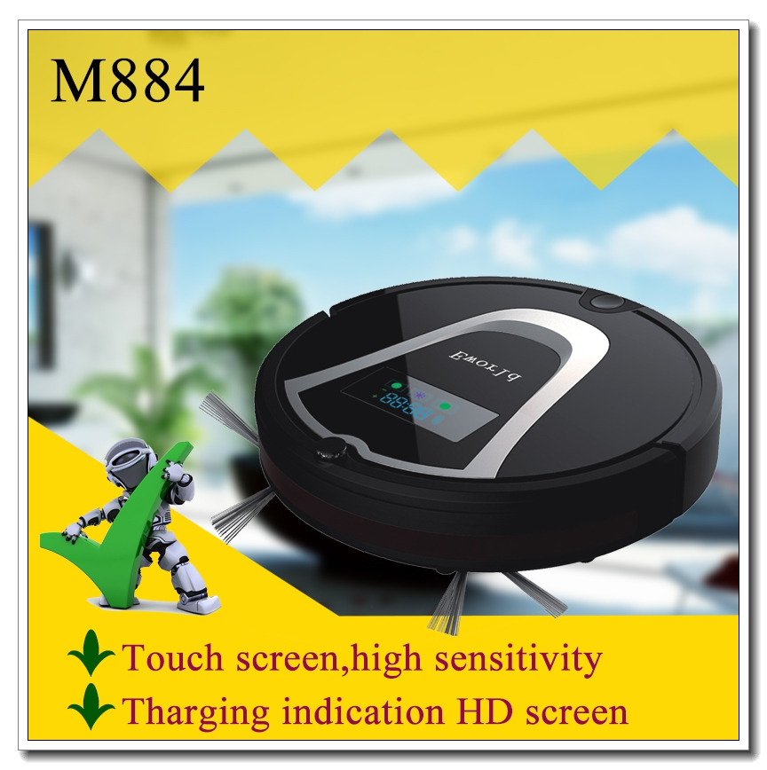 Eworld ABS Material Vacuum Cleaner Robot M884 Automatic Home Appliance Intelligent Robot Vacuum Cleaner With CE