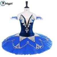 Взрослых блин балерины юбка пачка для детей синий «Лебединое озеро» классическая балетная пачка костюмы профессиональная сценическая пач