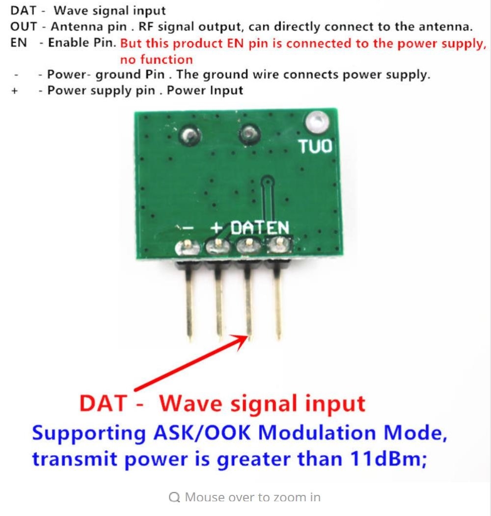 433 Mhz Superheterodyne Rf Receiver And Transmitter Module For Circuits Described In More Detail Schematic Arduino Uno Wireless Diy Kits 433mhz Remote Controls From Consumer