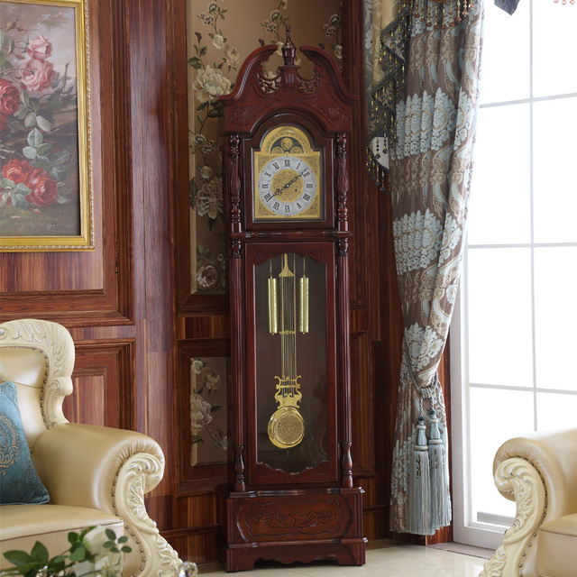 North Grandfather Clock Wood Living Room European Style