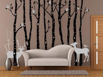 Personalized Cute Owl & Deer Tree Vinyl Decal Wall Sticker Art Mural Room Decor 217x270cm