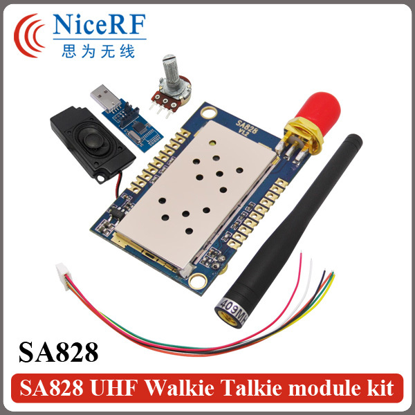 2sets/pack All-in-One UHF Band Voice Module 400-480MHz SA828 Walkie Talkie
