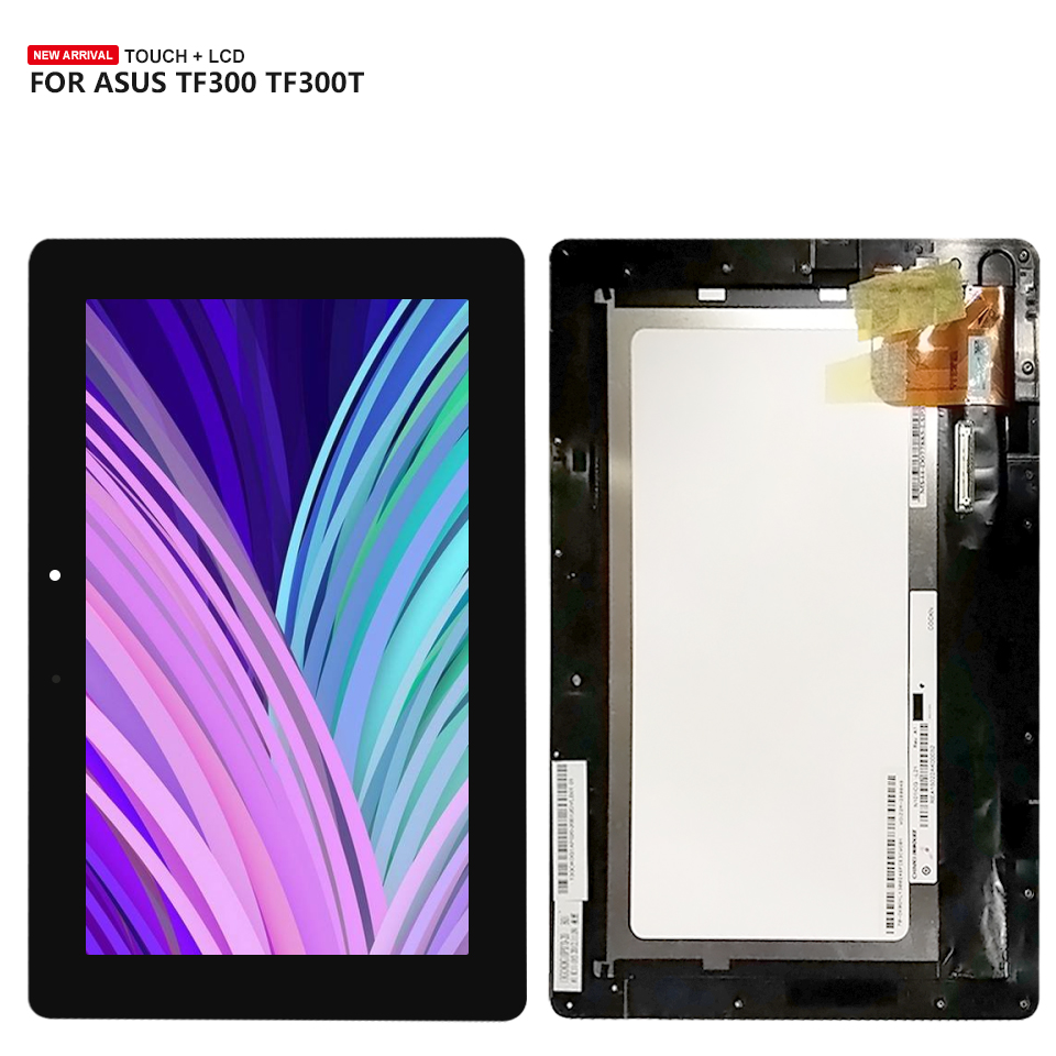 цена на LCD Touch Screen Digitizer Display Assembly For ASUS TF300 TF300TG TF300T TF300TL 5158N FPC-1