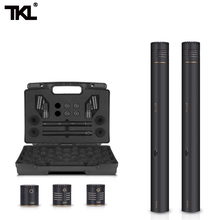 TKL 2-Pack Pencil Stick Condenser Microphone Omni Cardioid Super Capsules  Mic Clip and Portable Carrying Case