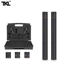 TKL 2-Pack Kalem Sopa Kondenser Mikrofon Omni Kardioid Süper Kardioid Kapsül Mikrofon Klip ve Taşınabilir Taşıma Çantası