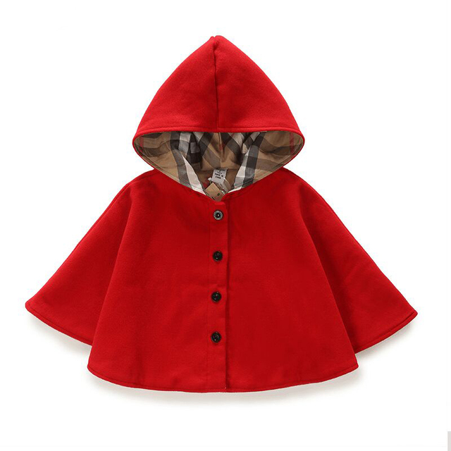 60 Winter Spring Fashion Kids Baby Cape Pattern Black Red Cotton Awesome Kids Cape Pattern