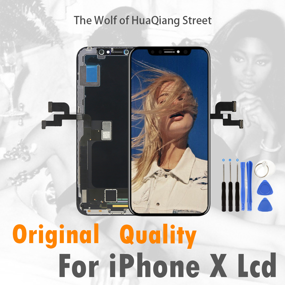 Best For iPhone X LCD Display For Tianma AMOLED OEM Touch Screen With Digitizer Replacement Assembly
