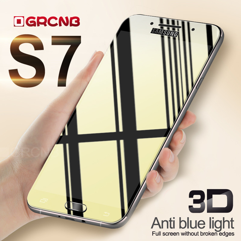 3D Full cover protective glass for samsung galaxy A3 A5 A7 2016 2017 tempered glass for samsung galaxy S6 S7 screen protector