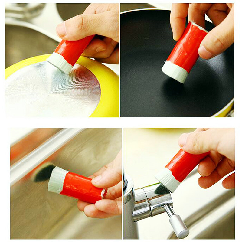 Stainless Steel Rod Magic Stick Metal Rust Remover Cleaning Stick Wash Brush Pot Kitchen Cooking Tools P0.21